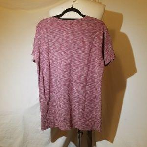 Pull&Bear Shirts - Final PULL & BEAR Red Heathered Knit Shirt